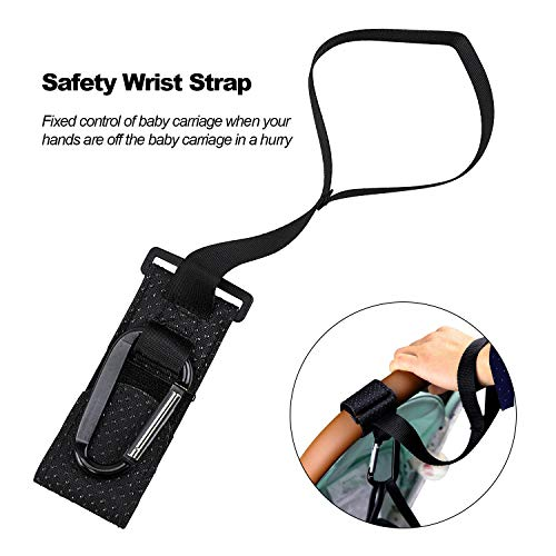 Topwon Strollers Hooks with Wrist Strap,Universal Handy Hook for Strollers/Walkers/Buggy -2Pcs (Handy Wrist Strap)