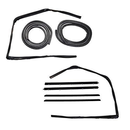 Gmc S15 Jimmy Weatherstrip (Rubber Door Weatherstrip Seal Kit Set for 83-94 Chevy S10 Blazer GMC S-15 Jimmy)