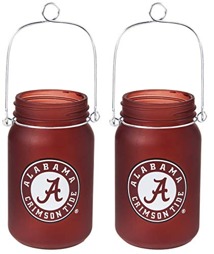 NCAA Alabama Crimson Tide LED Mason Jar Lantern - Alabama Crimson Tent Tide