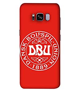 ColorKing Football Denmark 02 Red shell case cover for Samsung S8 Plus
