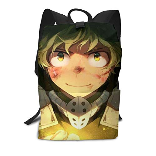 Outdoor Leisure Sports School Travel Backpack Casual Daypack-My Hero Academia Frases