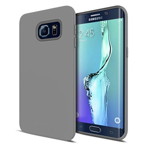 Galaxy S6 Edge Plus Case, Centra TPU Case for Galaxy S6 Edge Plus [1.5 mm Slim Design] [Matte Finish] [Custom Fit] – Gray
