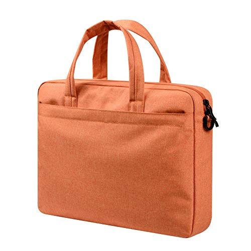 7ae1afce6644 FeliciaJuan Notebook Business Shoulder Bag 15.6-inch Handbag Apple 13-inch  MacBook Computer Bag 14-inch Briefcase (Color : Orange, Size : 15.6