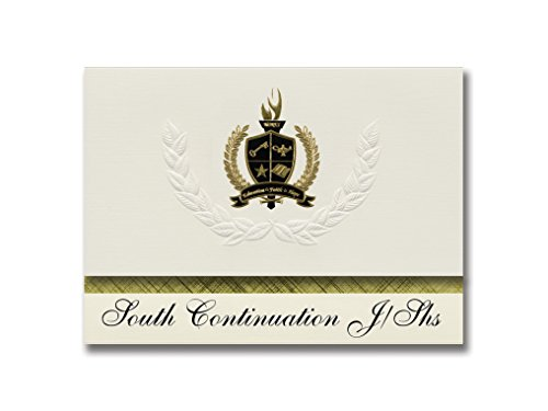 Signature Announcements South Continuation J/Shs (Las Vegas, NV) Graduation Announcements, Presidential style, Elite package of 25 with Gold & Black Metallic Foil - Las Vegas Premium South