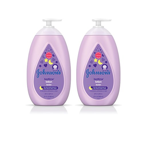 Baby Johnson Johnson Lotion - Johnson's Calming Bedtime Baby Lotion, Hypoallergenic and Paraben Free, Twin-Pack, 2 x 27.1 fl. oz