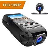 APEMAN Dash Cam Dual Dash Camera Car DVR Dashboard Recorder FHD 1080P 170 Wide Angle with G-Sensor, WDR, Loop Recording, Motion Detection