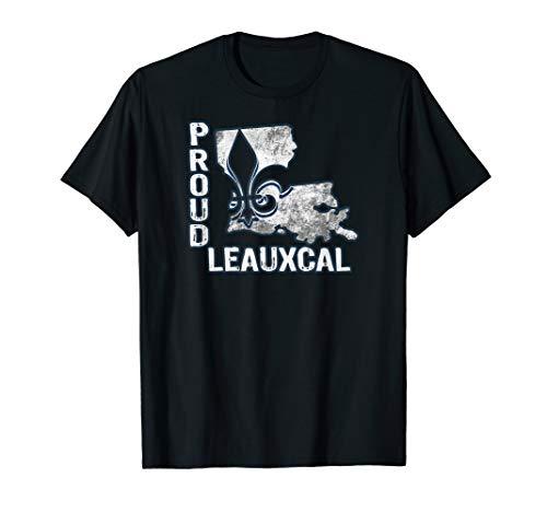 - Louisiana State Proud Leauxcal Local Fleur de lis T-shirt