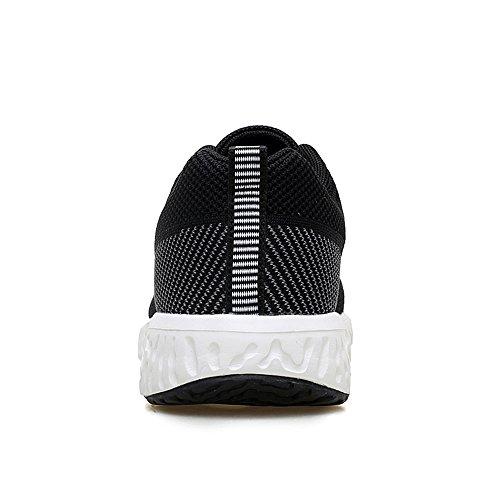 Ligeras Zapatillas 40 Negras Zapatillas Casual para de Hombres Malla Black2 Transpirables rqdwzCr