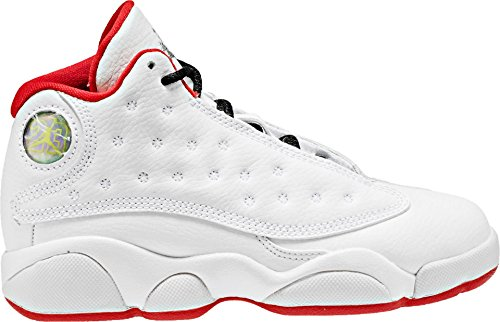 Jordan Nike Kinder Air 13 Retro BG Basketballschuh Weiß / Metallic Silber / Universität Rot