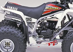 DG Performance 00-4010 - ATV Xtreme Pipe (Nickel Plated) for Yamaha Blaster 200 (1988-2006 )