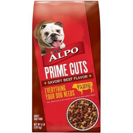 ALPO Prime Cuts Savory Beef Flavor Adult Dog Food 4 lb. Bag Alpo Prime Cuts Beef