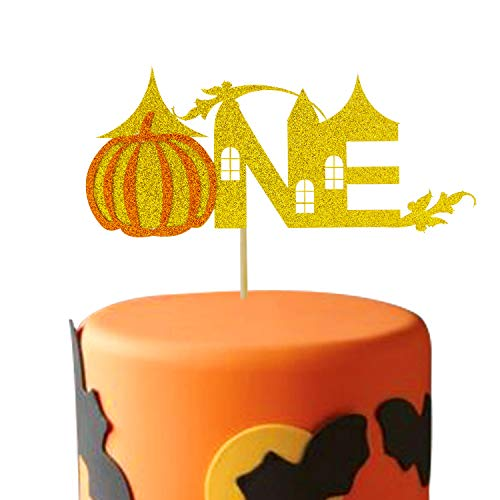 Pumpkin One Cake Topper 1st Fall Themed Baby Shower First Birthday Party Favor Supplies Decorations