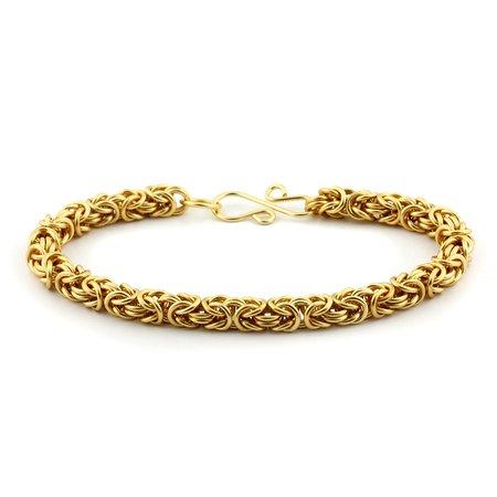 Weave Got Maille Byzantine Chain Maille Bracelet Kit, Gold -