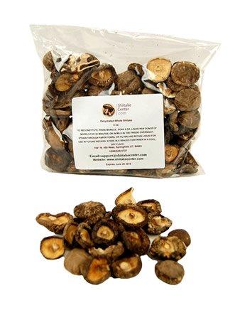 Dried Whole Shiitake Mushrooms - 4 Oz. Bag - Dehydrated Edible Gourmet Lentinula Edodes Fungi: Shitake by Shiitake Center