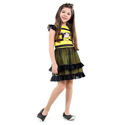 Luna Abelhinha Infantil Sulamericana Fantasias Amarelo/Preto 6 Anos