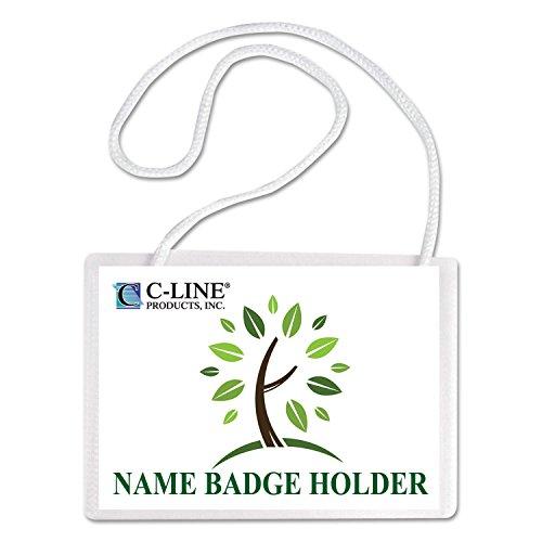 CLI97043 - C-line Biodegradable Name Badge Holder Kit
