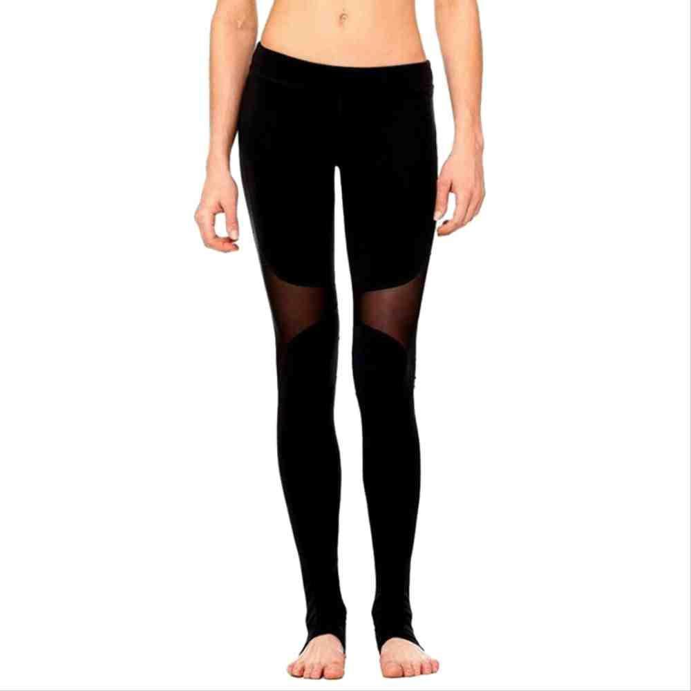 YGKDM Sexy Schwarze Frauen-Ineinander greifen-Sport-Gamaschen-hohe Taillen-Hosen-elastische Eignungs-Trainings-Patchwork-laufende Abnutzungs-Ausdehnungs-Yoga-Hosen