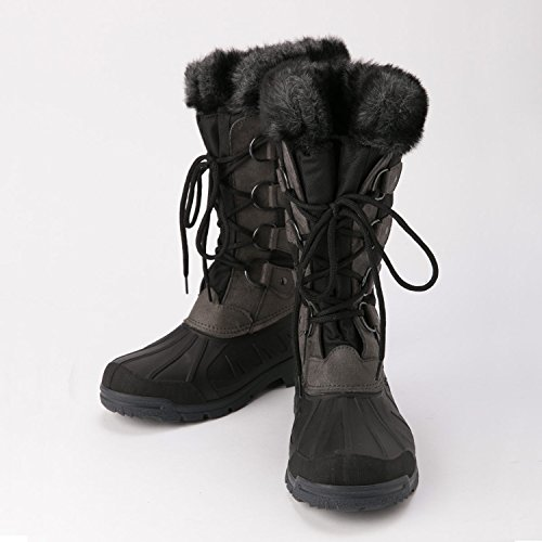 Covalliero Montreal botas de thermo-outdoor negro/gris
