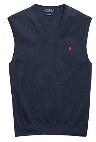 Polo Ralph Lauren Men's Pima Cotton Sweater Vest, XL, Newport (Polo Cotton Sweater)