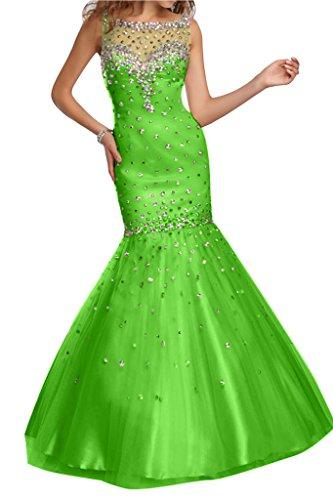Abendkleid Stil Damen Meerjungfrau Tuell Jaegergruen Ivydressing Steine qH7B4Tnxnw