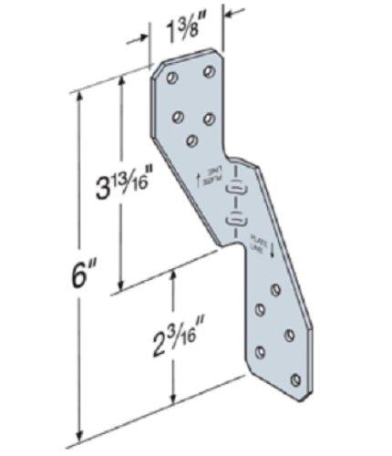 (100カウント) シンプソン 316 ステンレス鋼 H2.5ASS ハリケーン タイ 垂木/トラスウォール プレート (インポート) B00936KB92
