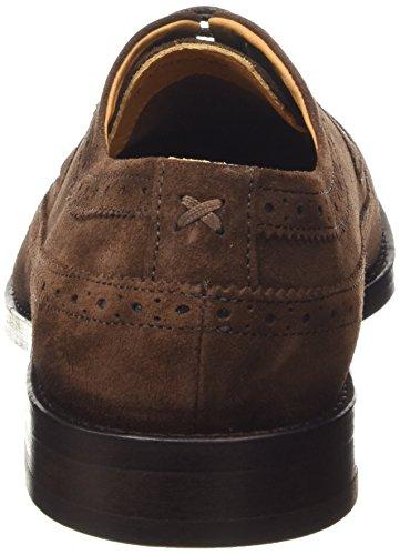 Sebago Braun Collier Cordones Marrón Tip Para Hombre dk Brogue Brown Wing Zapatos Suede De w4wSvnrgq