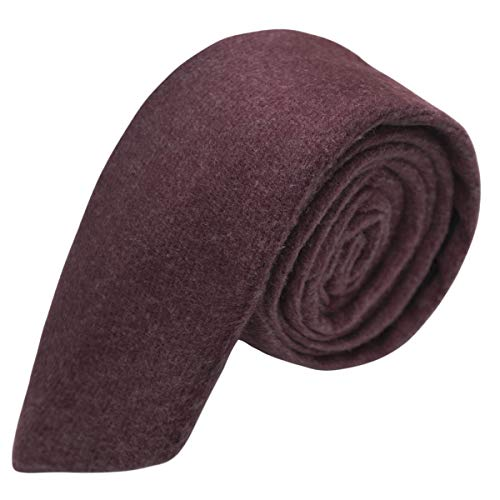 Luxury Burgundy Donegal Tweed Necktie, Tweed