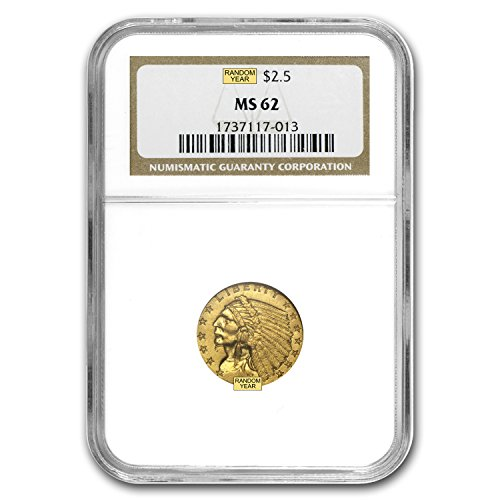 1908 – 1929 $2.50 Indian Gold Quarter Eagle MS-62 NGC/PCGS $2.50 MS-62 PCGS