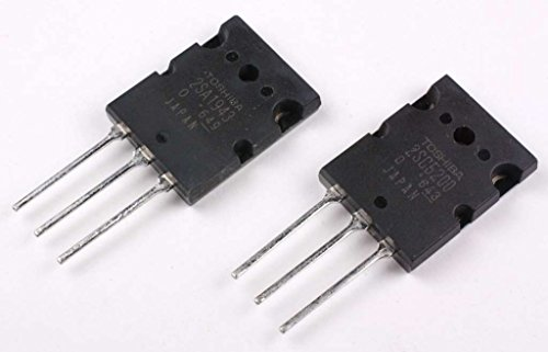 2SA1943 2SC5200 Pair of PNP and NPN Power Amplifier Transistor for Fidelity Audio Amp (Amp Transistor)