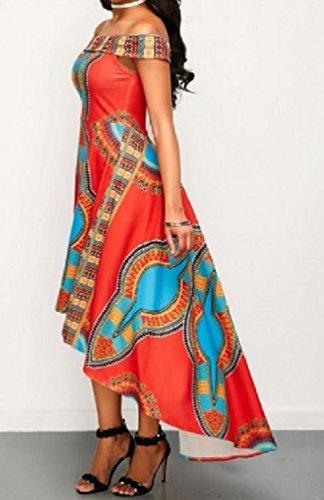 Stampa donne Alti Coolred Come Stampate Immagine Abito Orlo Totem Stile Digitale Dashiki Africano Bassi fn104nFqx