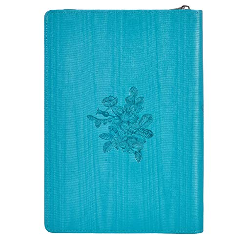"""Trust in the Lord"" Zippered Turquoise Flexcover Journal – Proverbs 3:5"
