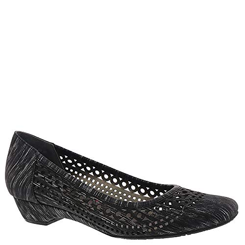Ros Hommerson Tina Women's Casual Shoe: Black/Print 7 Wide (D) Slip-On