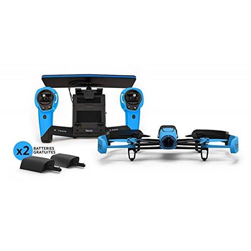 Dok Phone Drone und Skycontroller Plus 2 Akkus, Blau
