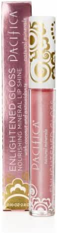 Pacifica Beauty Enlightened Gloss Natural Mineral Lip Shine, Beach Kiss, 0.1 Ounce