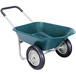 Giantex Heavy Duty 2 Tire Wheelbarrow Garden Cart Landscape Wagon
