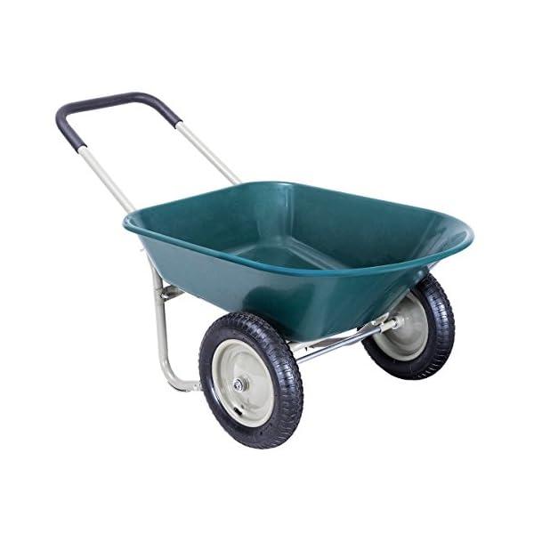 Giantex 2 Tire Wheelbarrow Yard Garden Cart