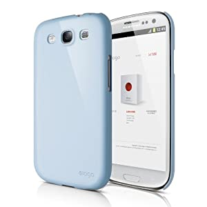 elago G5 Slim Fit Case for Verizon/AT&T/T-Mobile/Sprint Samsung Galaxy S3 - Eco Pack - Glossy Cotton Candy Blue