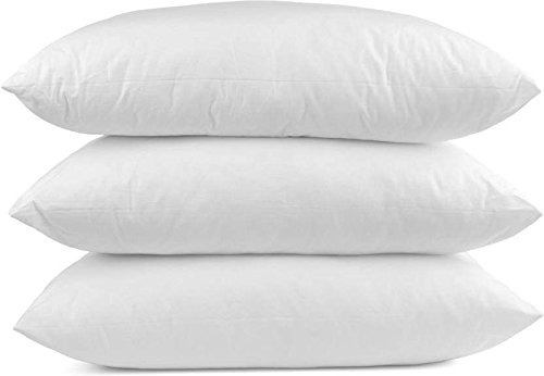 Euro Inserts 3 - Meraki Premium Collections Indoor/Outdoor 6D Euro Pillows (28 x 28) Set of 3 Square Pillow for Decorative Bed Pillow Shams - Down Alternative Fill (3 Pack)