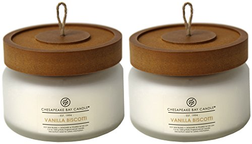 Vanilla Scented Toasted Candle (Chesapeake Bay Candle Heritage Scented Candle, Vanilla Biscotti Small 2 Count)