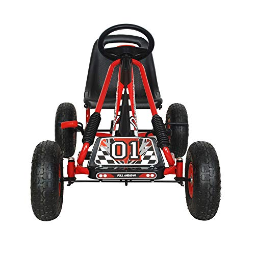 NextGen Pedal Go Cart for Children with Adjustable Seat and Pneumatic Tires, Red by NextGen Scooters (Image #3)