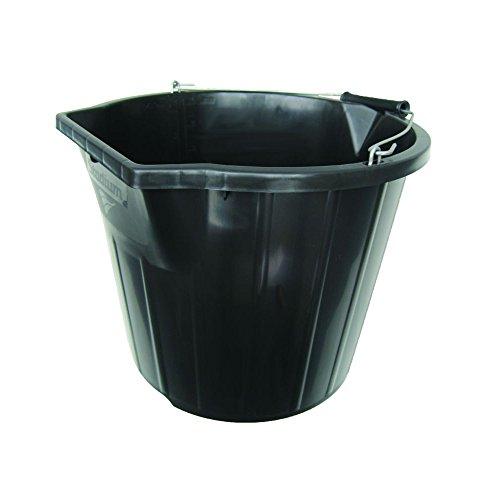 Builders Bucket - Stadium Heavy Duty Contractor Builder Plasterer Mixing Pour and Scoop Bucket Black 3 Gallon by Stadium