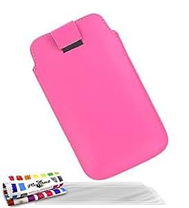 """Funda APPLE IPHONE 4 [""""Le Sweep""""] [Rosa caramelo] de MUZZANO + 3 Pelliculas de Pantalla """"UltraClear"""" + ESTILETE y PAÑO MUZZANO REGALADOS - La Protección Antigolpes ULTIMA, ELEGANTE Y DURADERA para su APPLE IPHONE 4"""