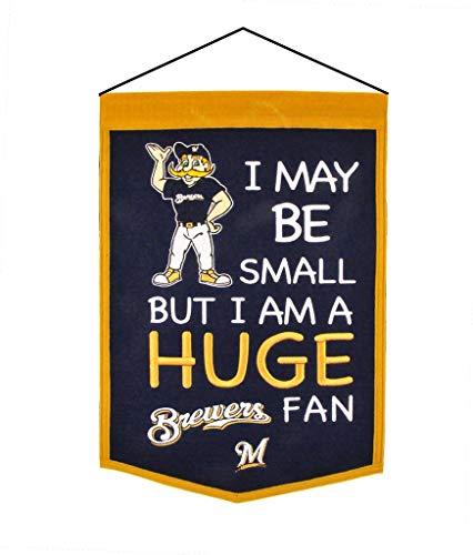 (Winning Streak Sports 18167 Milwaukee Brewers Lil Fan Traditions Banner)