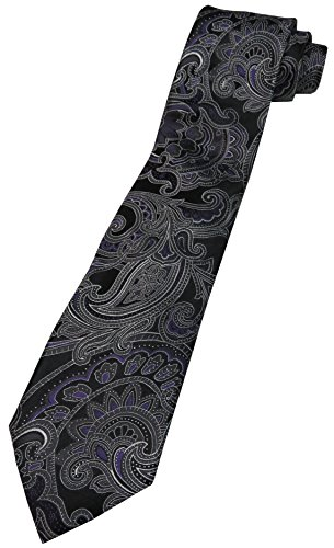 Donald Trump Signature Collection Neck Tie Purple Black and Silver w/Gold Emblem - Signature Trump Collection