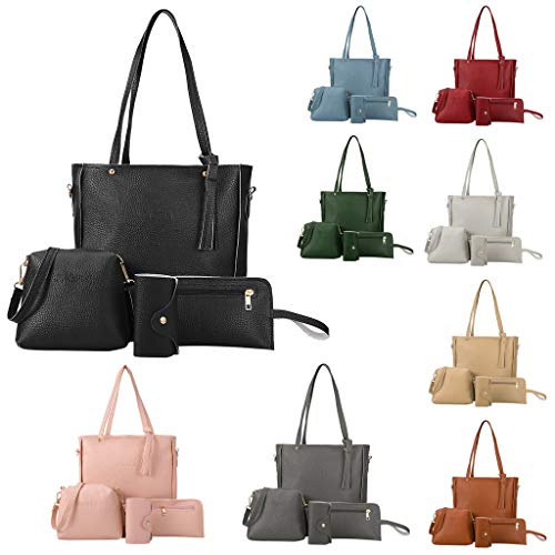 Women Fashion Bags, Totes Shoulder Bags Purses Handbag 4PC Bags Sets