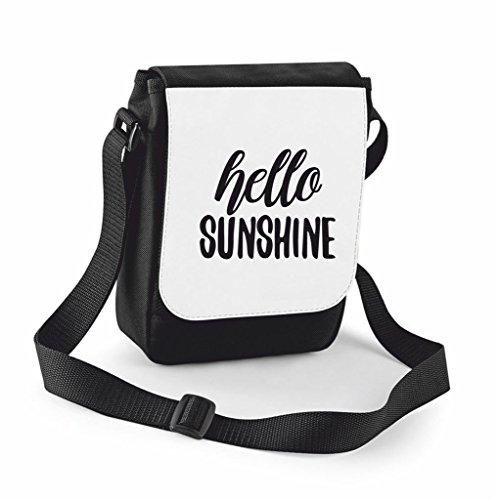 Statement Positive Sunshine Small Bag Handbag Large Hello Cover Compartment Messenger Traveling Black Shoulder Nickname Crossbody Case a1tqwEx