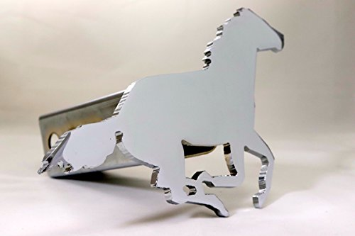 Custom Hitch Covers 12513-Chrome Running Horse Hitch Cover, (Horse Hitch Cover)