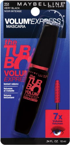 Express Mascara Maybelline New York Volum 'Turbo lavable, 251 très noire, 0,34 once liquide