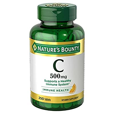 Nature's Bounty Vitamin C 500 mg, 250 Tablets (Pack of 2)