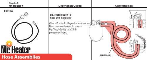 12ft Big Buddy Hose with Regulator